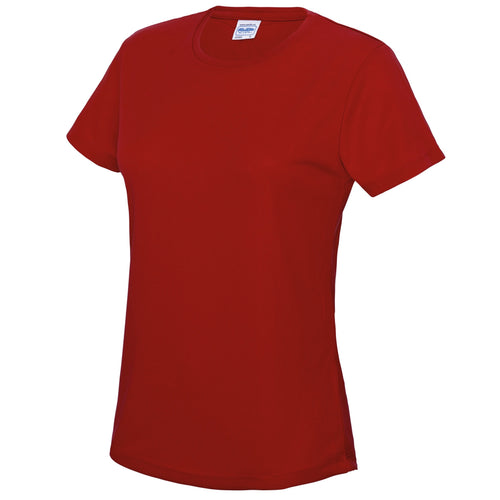 AWDis Just Cool Girlie Technical T-Shirt JC005 Fire Red-Custom Teamwear