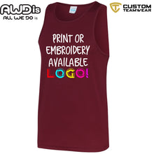 Load image into Gallery viewer, AWDis Just Cool Polyester Vest Top JC007 Burgandy-Custom Teamwear