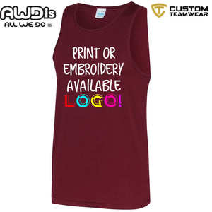 AWDis Just Cool Polyester Vest Top JC007 Burgandy-Custom Teamwear