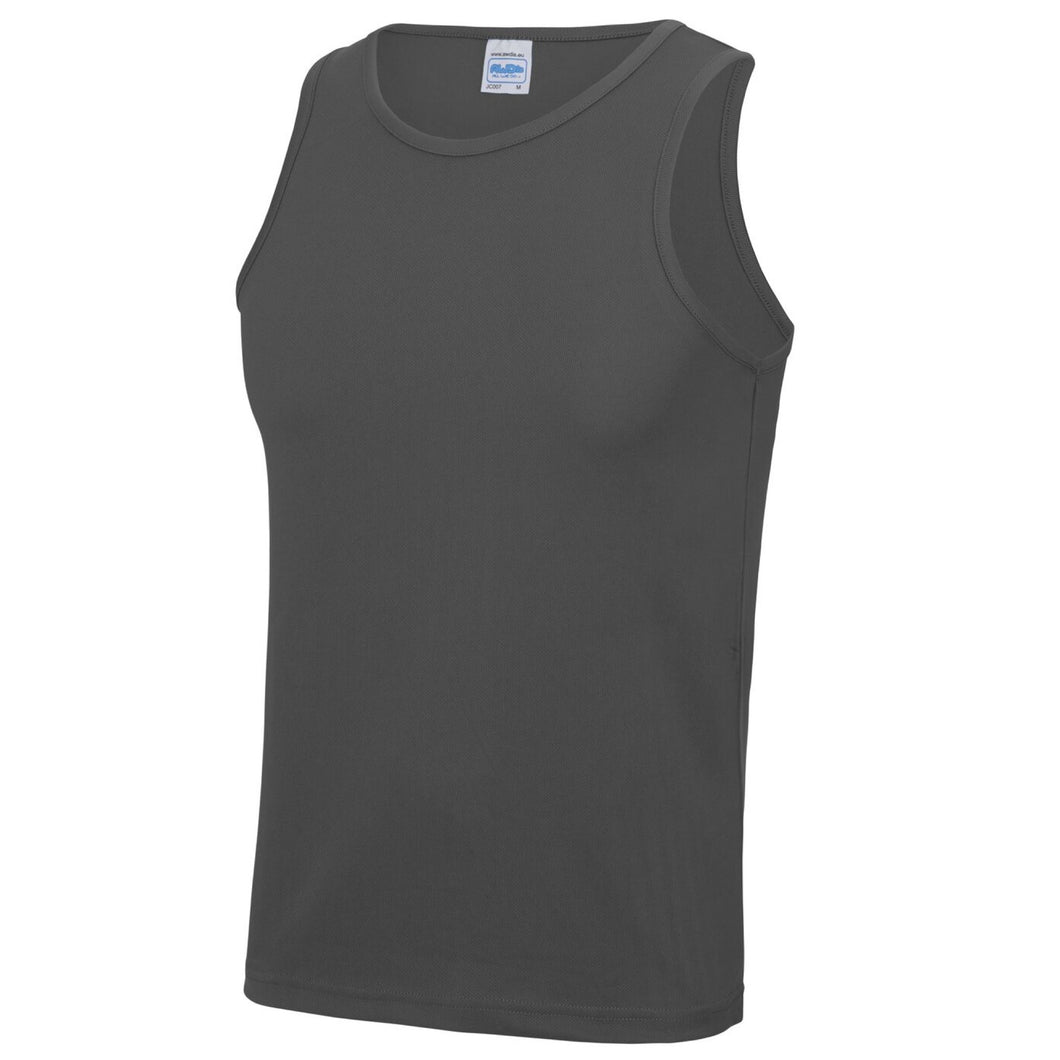 AWDis Just Cool Polyester Vest Top JC007 Charcoal-Custom Teamwear