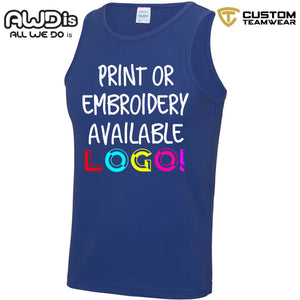 AWDis Just Cool Polyester Vest Top JC007 Royal Blue-Custom Teamwear