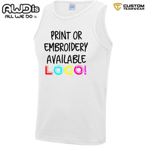 AWDis Just Cool Polyester Vest Top JC007 White-Custom Teamwear
