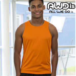 AWDis Just Cool Polyester Vest Top JC007 Fire Red-Custom Teamwear