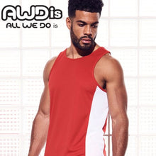 Load image into Gallery viewer, AWDis Just Cool Contrast Technical Training Vest JC008 White/ Navy-Custom Teamwear