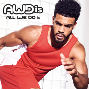 AWDis Just Cool Contrast Technical Training Vest JC008 Red/ White-Custom Teamwear