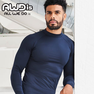 AWDis Just Cool Long Sleeve Base Layer JC018 French Navy-Custom Teamwear