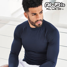 Load image into Gallery viewer, AWDis Just Cool Long Sleeve Base Layer JC018 Black-Custom Teamwear