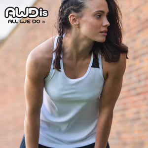 AWDis Just Cool Girlie Smooth Workout Vest JC027 White-Custom Teamwear