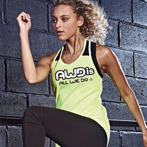 AWDis Just Cool Girlie Smooth Workout Vest JC027 Charcoal-Custom Teamwear