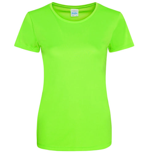 AWDis Just Cool Smooth 100% Polyester T-Shirt JC025 Electric Green-Custom Teamwear