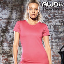 Load image into Gallery viewer, AWDis Just Cool Smooth 100% Polyester T-Shirt JC025 Hot Pink-Custom Teamwear