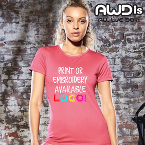AWDis Just Cool Smooth 100% Polyester T-Shirt JC025 Lime Green-Custom Teamwear