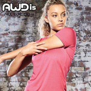 AWDis Just Cool Smooth 100% Polyester T-Shirt JC025 Fire Red-Custom Teamwear