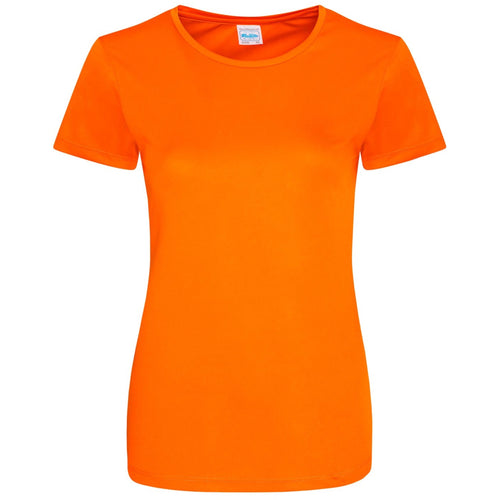 AWDis Just Cool Smooth 100% Polyester T-Shirt JC025 Electric Orange-Custom Teamwear