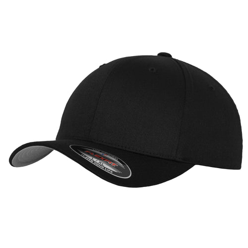 Flexfit Fitted Baseball Cap by Yupoong YP004 Black-Custom Teamwear