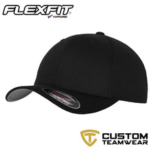 Load image into Gallery viewer, Flexfit Fitted Baseball Cap by Yupoong YP004 Black-Custom Teamwear