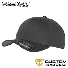 Load image into Gallery viewer, Flexfit Fitted Baseball Cap by Yupoong YP004 Charcoal-Custom Teamwear