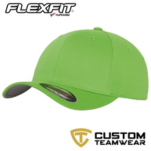 Load image into Gallery viewer, Flexfit Fitted Baseball Cap by Yupoong YP004 Flesh Green-Custom Teamwear