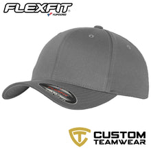 Load image into Gallery viewer, Flexfit Fitted Baseball Cap by Yupoong YP004 Grey-Custom Teamwear