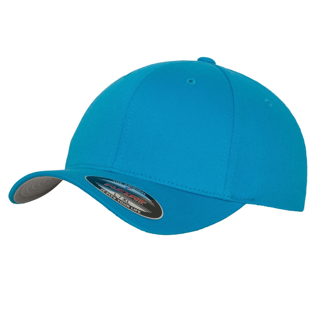 Flexfit Fitted Baseball Cap by Yupoong YP004 Sapphire Blue-Custom Teamwear