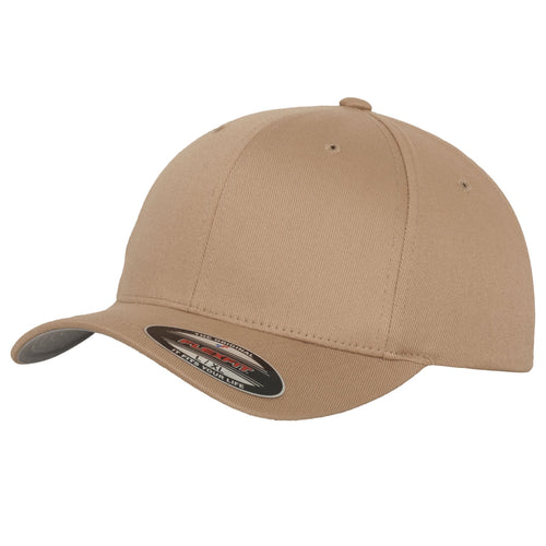 Flexfit Fitted Baseball Cap by Yupoong YP004 Khaki-Custom Teamwear