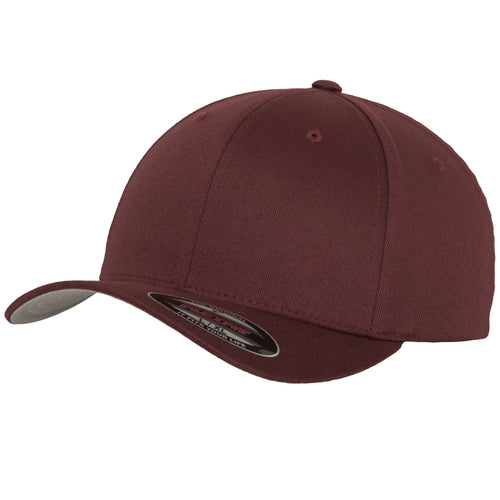 Flexfit Fitted Baseball Cap by Yupoong YP004 Maroon-Custom Teamwear