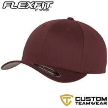Load image into Gallery viewer, Flexfit Fitted Baseball Cap by Yupoong YP004 Maroon-Custom Teamwear