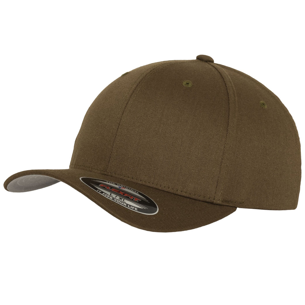 Flexfit Fitted Baseball Cap by Yupoong YP004 Olive Green-Custom Teamwear