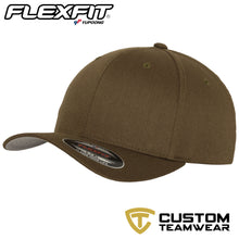 Load image into Gallery viewer, Flexfit Fitted Baseball Cap by Yupoong YP004 Olive Green-Custom Teamwear