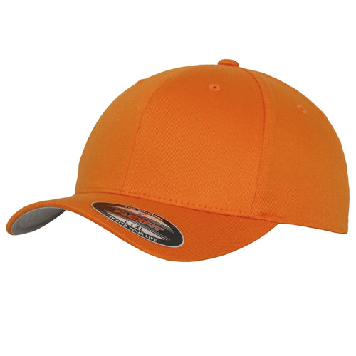 Flexfit Fitted Baseball Cap by Yupoong YP004 Orange-Custom Teamwear