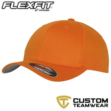Load image into Gallery viewer, Flexfit Fitted Baseball Cap by Yupoong YP004 Orange-Custom Teamwear