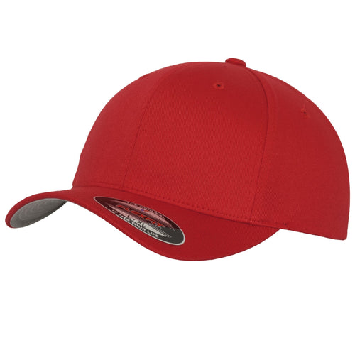 Flexfit Fitted Baseball Cap by Yupoong YP004 Red-Custom Teamwear