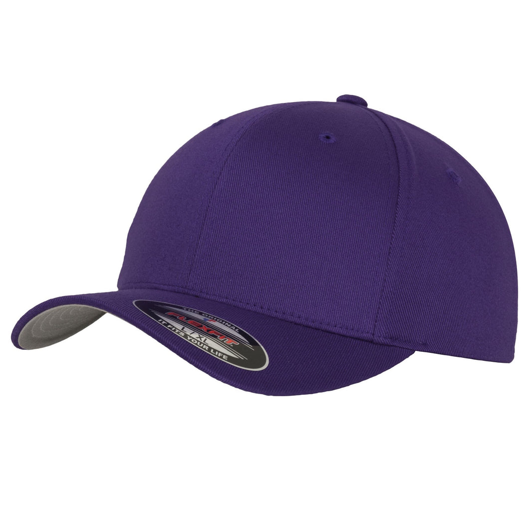 Flexfit Fitted Baseball Cap by Yupoong YP004 Purple-Custom Teamwear