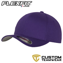 Load image into Gallery viewer, Flexfit Fitted Baseball Cap by Yupoong YP004 Purple-Custom Teamwear