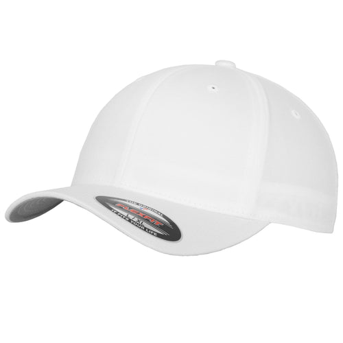 Flexfit Fitted Baseball Cap by Yupoong YP004 White-Custom Teamwear