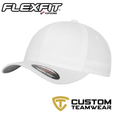 Load image into Gallery viewer, Flexfit Fitted Baseball Cap by Yupoong YP004 White-Custom Teamwear
