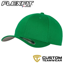 Load image into Gallery viewer, Flexfit Fitted Baseball Cap by Yupoong YP004 Pepper Green-Custom Teamwear