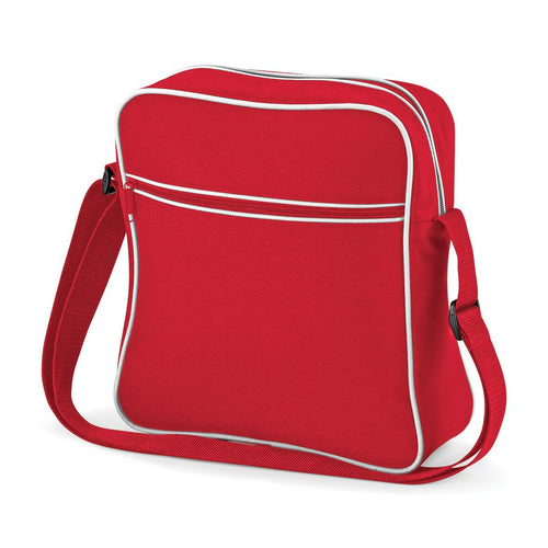 BagBase Retro Flight Shoulder Bag Carry On BG016 Red-Custom Teamwear