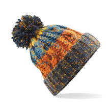 Load image into Gallery viewer, Beechfield Corkscrew Beanie Hat Retro Blue BC486-Custom Teamwear