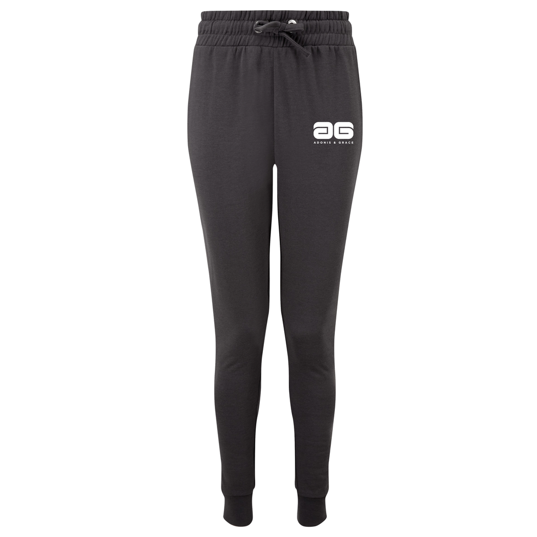Adonis & Grace Fitted Slim Joggers Black-Custom Teamwear