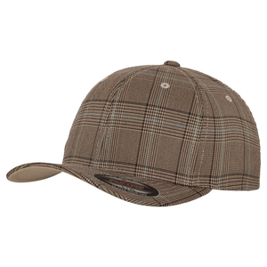 Flexfit Glen Check Fashion Cap YP041 Brown Khaki Fashion-Custom Teamwear