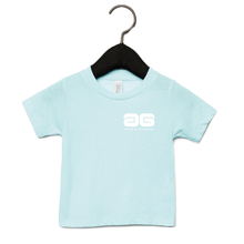Load image into Gallery viewer, Adonis & Grace Baby Triblend Short Sleeve T-Shirt Ice Blue-Custom Teamwear