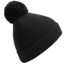 Load image into Gallery viewer, Beechfield Engineered Knit Ribbed Pom Pom Beanie BC382-Custom Teamwear