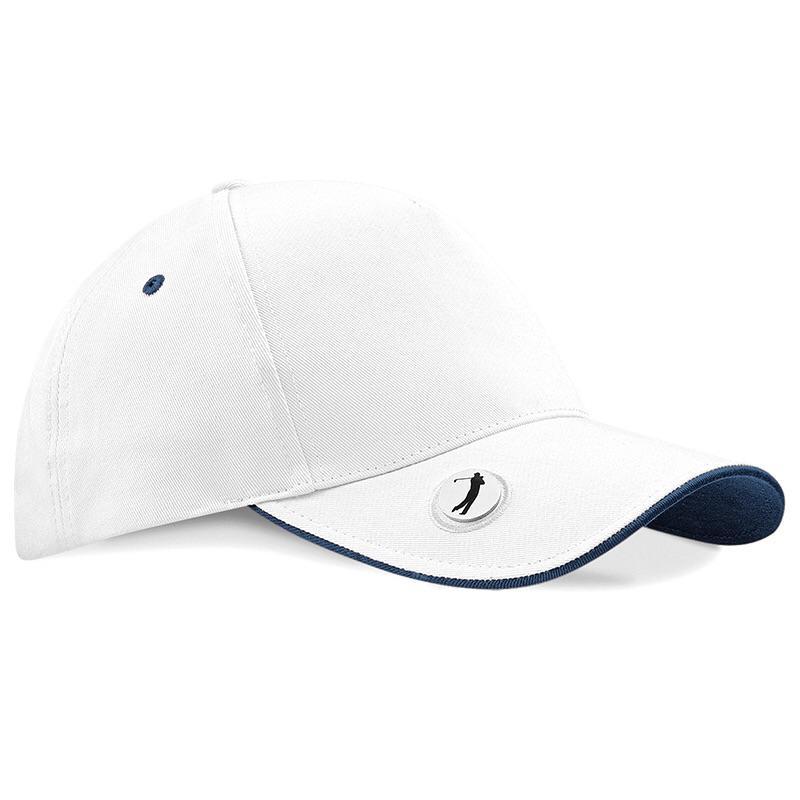 Beechfield Pro Style Golf Cap with Marker BC185 White-Custom Teamwear