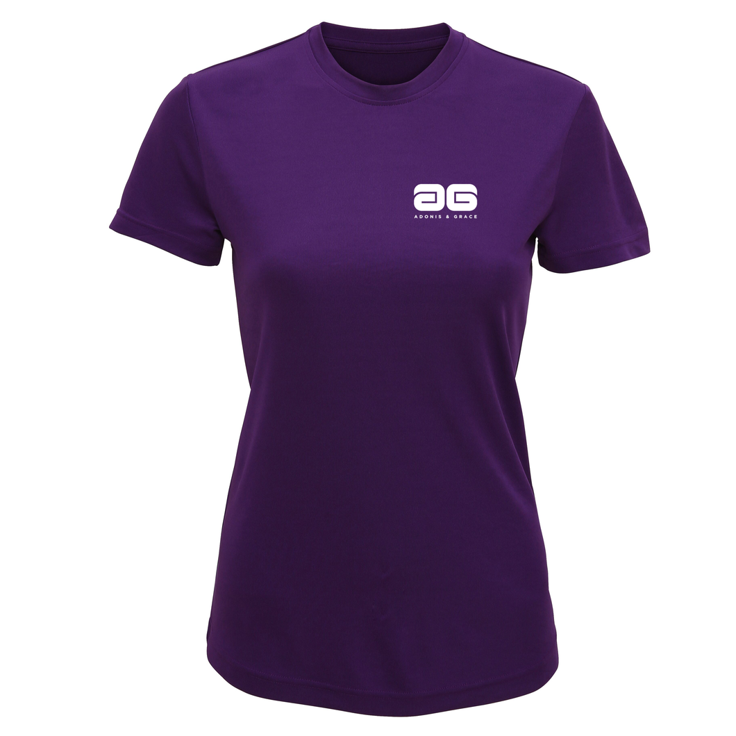 Adonis & Grace Technical Training T Shirt Lightening Purple-Custom Teamwear