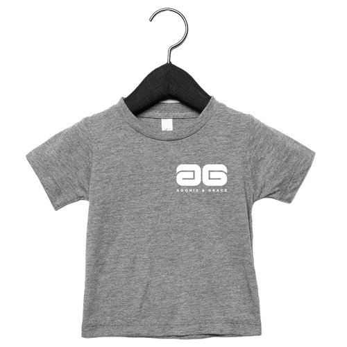 Adonis & Grace Baby Triblend Short Sleeve T-Shirt Heather Grey-Custom Teamwear