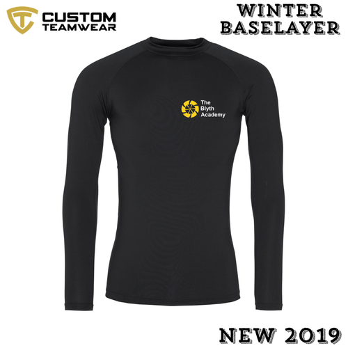 Blyth Academy Winter BaseLayer Black Cool Long Sleece BAJC018-Custom Teamwear