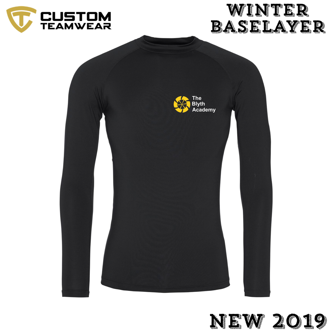 Blyth Academy Winter BaseLayer Black Cool Long Sleece BAJC018