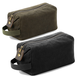 Adonis & Grace Heritage Canvas Wash Bag-Custom Teamwear