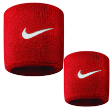 Load image into Gallery viewer, Nike Swoosh Sports Sweat Wristbands NK280 Red-Custom Teamwear
